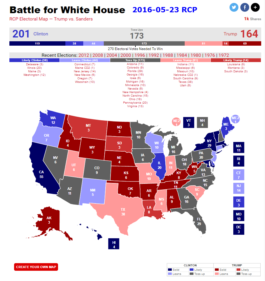 30 Lovely Rcp Electoral Map Pics | buz24.net