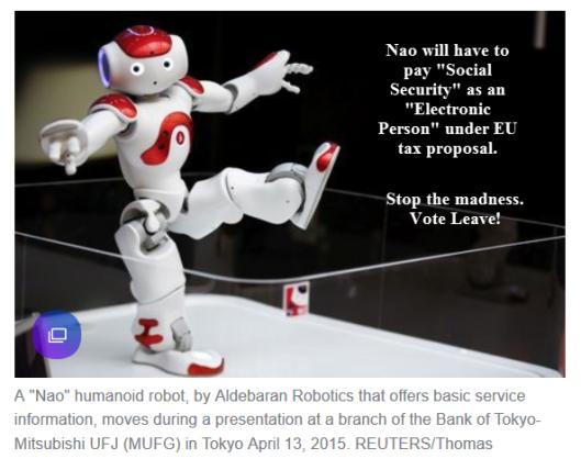 "Robots To Pay ""Social Security"" Under EU Tax Proposal"