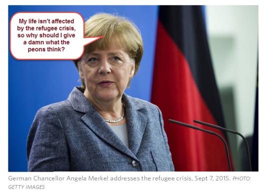 Merkel Refugee