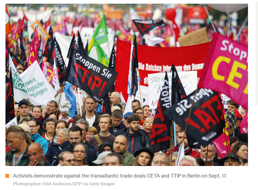 Over 300000 Germans Protest Eu Trade Deals With Us And Canada