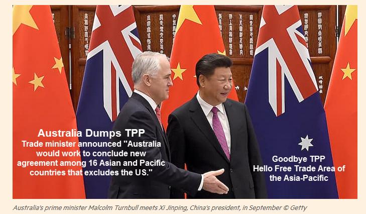 Australia Snubs Obama Dumps TPP Opts For China Sponsored