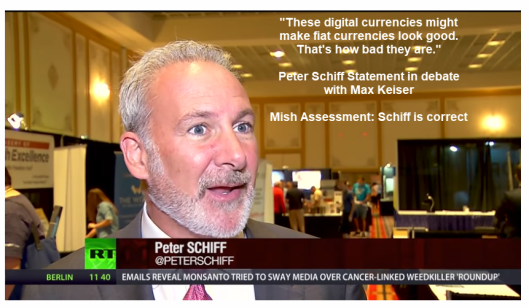 "Peter ""Gold"" Schiff Vs Max ""Crypto"" Keiser - Are Bitcoins The New Beaver Pelts?"
